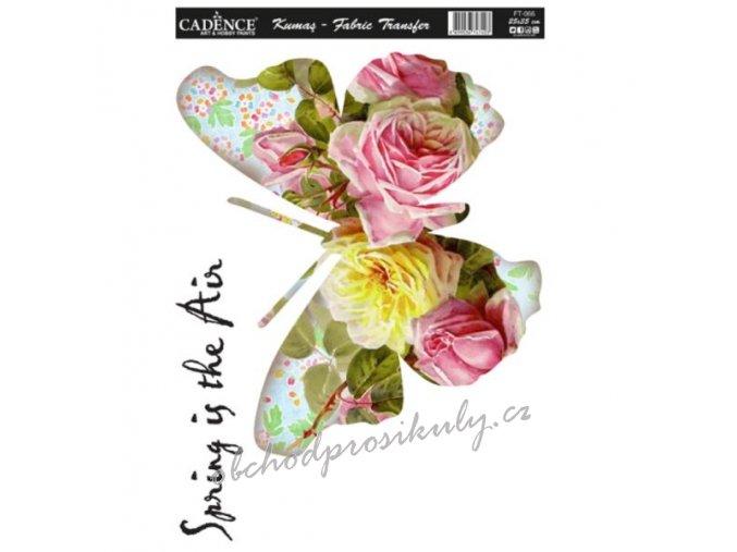 nazehlovaci nalepka 25x35 cm kvetinovy motyl