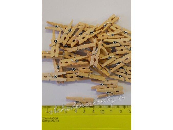 Kolíčky dřevěné, přírodní,  3cm, 36ks