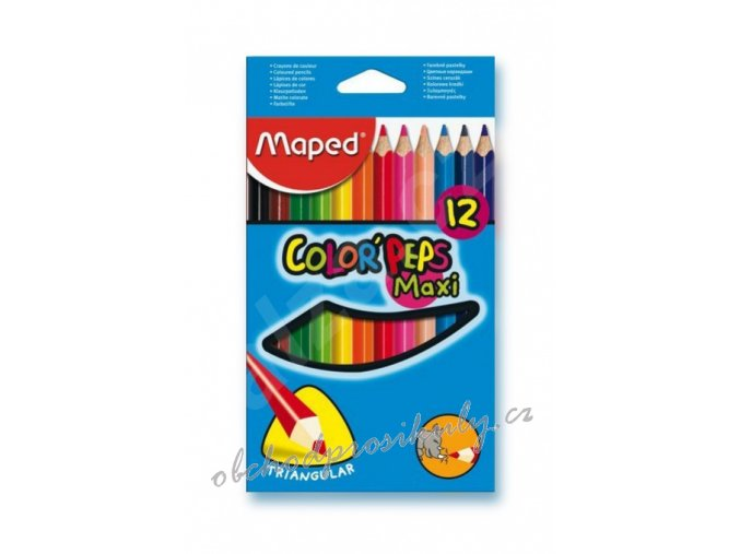 pastelky maped trojboke color peps jumbo 12 barev 9834010 original