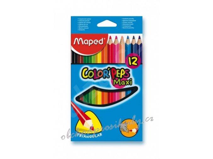 pastelky maped trojboke color peps jumbo 12 barev 9834010 original