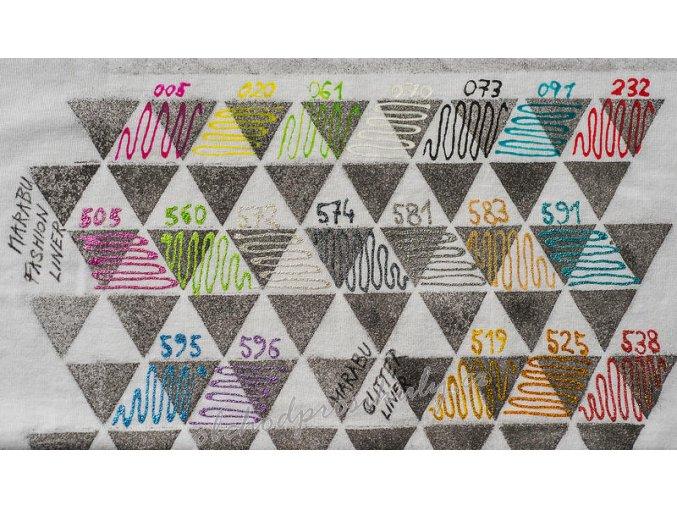 Kontury na textil MARABU, 25ml, různé barvy