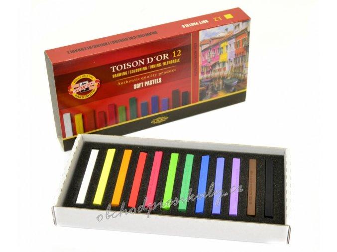 kridy prasne umelecke koh i noor soft pastels 12 ks 8582 original