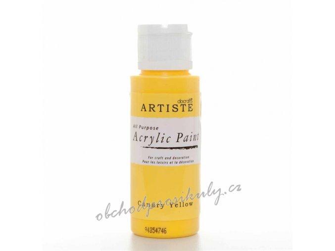 Akrylová barva kanárkově žlutá 59ml