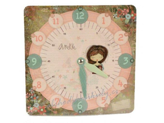 Papírové hodiny výukové, různé motivy