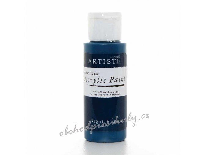 Akrylová barva tm. modrá 59ml