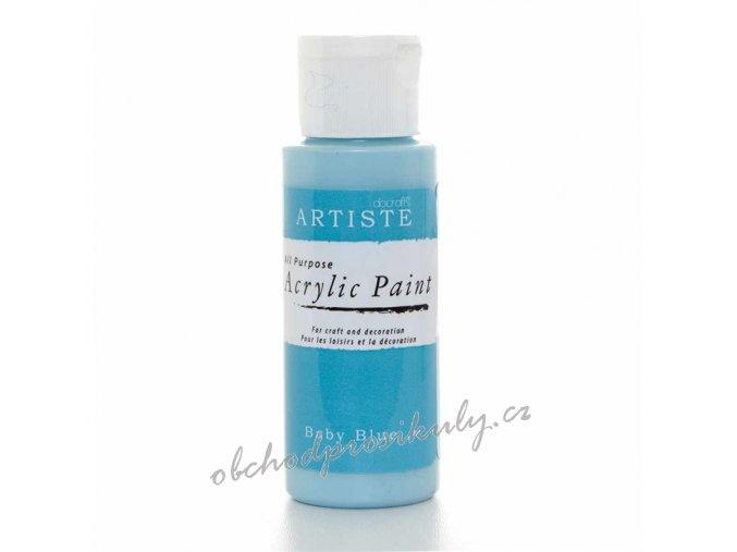 Akrylová barva bledě modrá 59ml