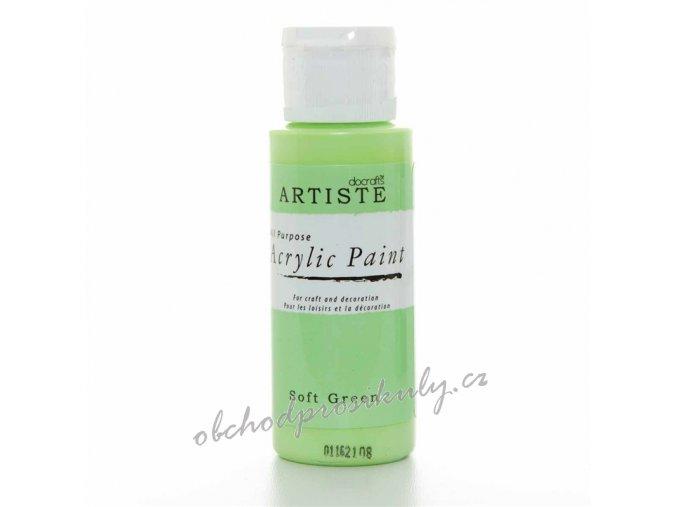 Akrylová barva světle zelená 59ml