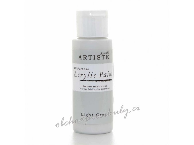 Akrylová barva světle šedá 59ml