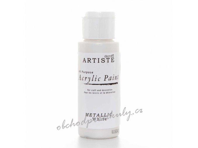 Akrylová barva metalická bílá 59ml