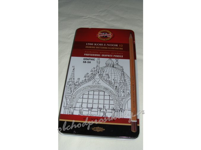 1500 KOH-I-NOOR, PROFESIONAL GRAPHITE PENCILS,souprava grafitových tužek