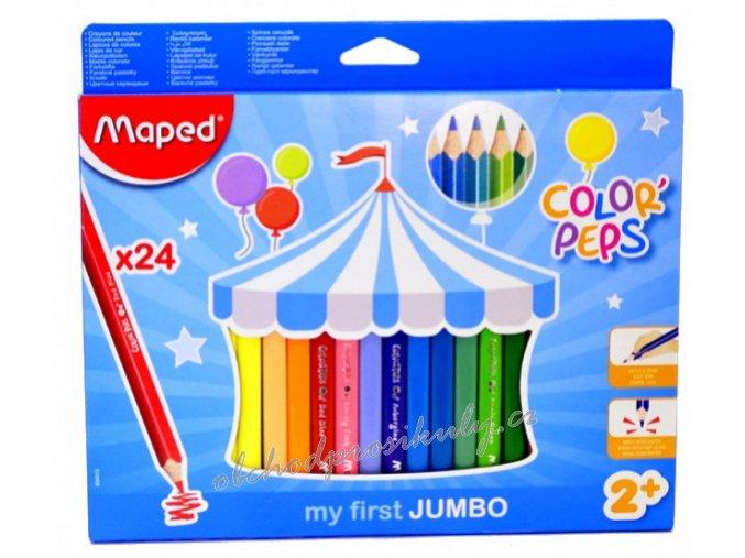 pastelky maped jumbo trojhranne 24 ks 0086 9834013 original