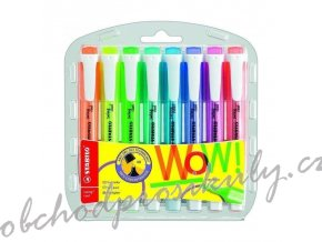 highlighter stabilo swing cool fluorescent 8 pcs set in a case