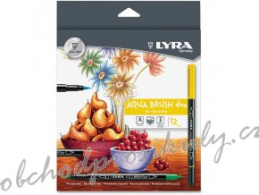 LYRA 6521120 Dual Tip Marker Assorted 12 per Pack