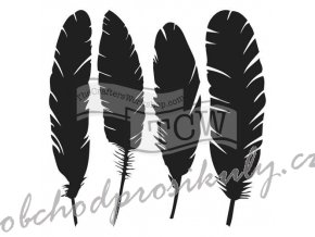 """Šablona 12""""x12"""" (30,5 x 30,5 cm), 4 Feathers"""