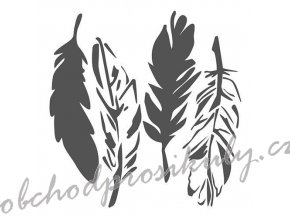 """Šablona 6""""x6"""" , Feathers, mini"""