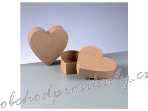 Krabička srdce, vel. 10x10x3 cm