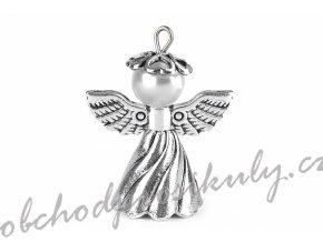 Kreativní sada anděl s koženým řemínkem