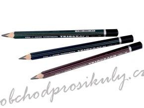 Tužky grafitové kreslící, trojhrané silné, mix gradací