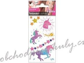 tetovaci obtisky s glitry 10 5 x 6 cm jednorozci 16001 original