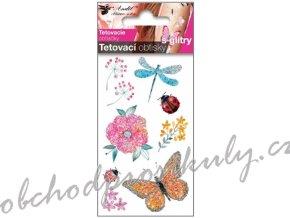 Tetovací obtisky dětské, třpytivé
