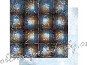 Oboustranný papír na scrapbook (1ks) Sleigh Ride - Flurries