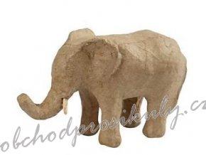Slon z papírové hmoty 15cm