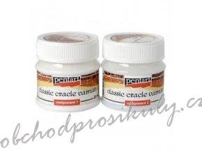 Dvoufázový krakelovací lak klasický průhledný 50 ml (sada 2ks)