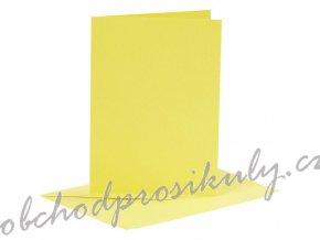 A6 přání a obálky 6ks (220g/m2) žluté