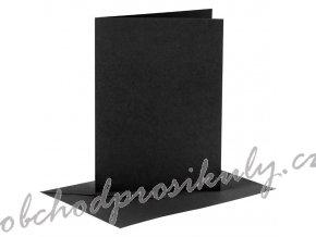 A6 přání a obálky 6ks (230g/m2) černé