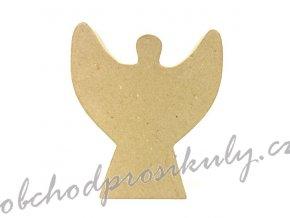 Kartonový předmět anděl 14x13x3cm