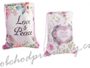 latkovy batoh vak kvetinovy vzor 21796