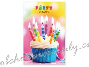 party pozvanky 6 ks muffin 1140056 original