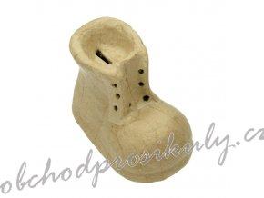 Kartonový předmět bota kasička 9x8x12,5cm