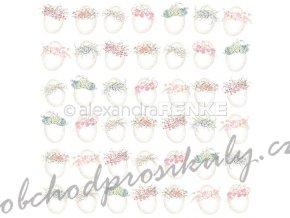 Jednostranný papír na scrapbook (1ks) Eggs with wreaths