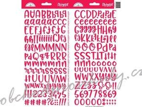 Samolepky Abeceda a čísla Abigail - červená