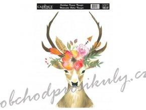 nazehlovaci nalepka 25x35 cm akvarelova jelen