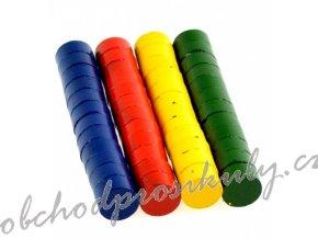 Magnety 10 mm - barevné - 48 ks - 171709