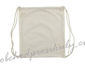Plátěný batoh se stahovacími šňůrkami 38x42cm