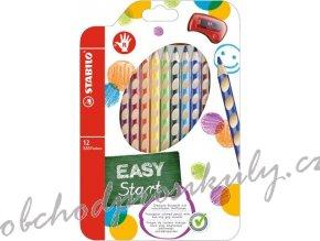 stabilo easycolors pro pravaky 12 ks pouzdro s orezavatkem.3507352040.1535625031