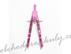 Školní kružítko kovové rychloupínací růžové (1ks)