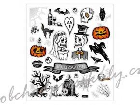Samolepky 15x17cm - Halloween svatba