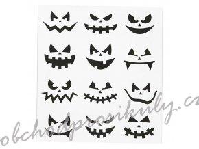 Samolepky 15x17cm - Halloween obličeje