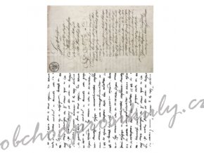 ryzovy papir a3 stary dopis