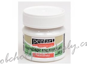 Lepidlo a lak na decoupage NA TEXTIL 50ml