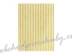 ryzovy papir a3 metalicke prouzky zlate