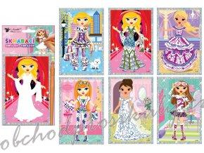 Škrabací obrázek panenky 21,5 x 11 cm