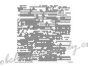 sablona 12 x12 30 5 x 30 5 cm tiny circles