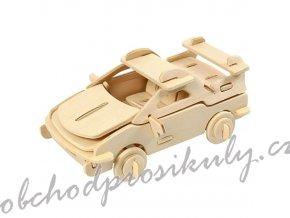 3D dřevěný model auto