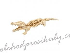 3D dřevěný model krokodýl