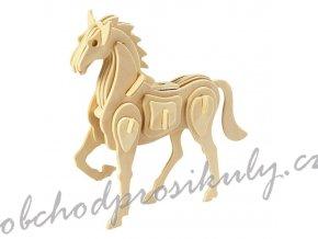 3D dřevěný model kůň